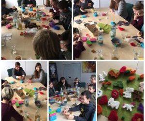 Schreibwerkstatt Pusteblume in Aktion – Filzen mit Livipur aus Bad Homburg