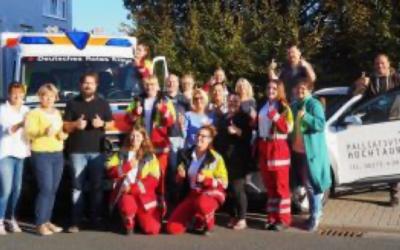 Notfallsanitäter in Ausbildung leisten einen Praktikumstag im Palliativteam Hochtaunus